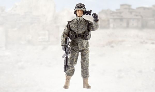 World Peacekeepers Airborne Infantryman 12in Poseable Army Action Toy Figure